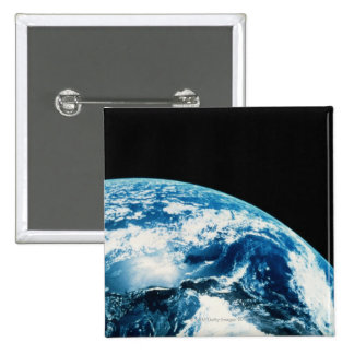 View of Earth in Space 2 Inch Square Button
