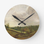 View of East Bergholt, c.1813 (oil on canvas) Round Clock