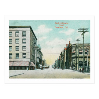 View of East Colorado Street Postcard