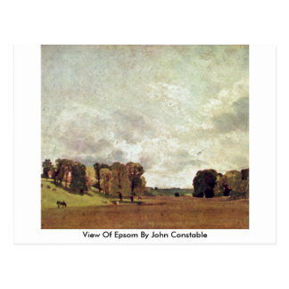 View Of Epsom By John Constable Postcard