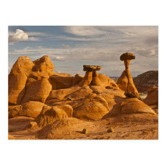 View of eroded rock toadstools postcard