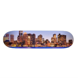 View of Financial District of downtown Boston Skateboards