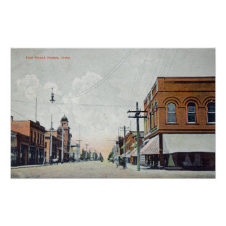 View of First StreetNampa, ID Poster