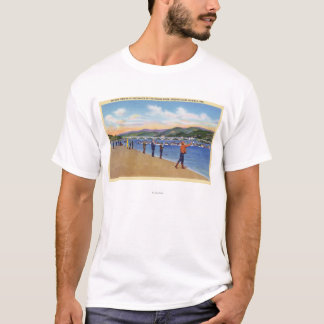 View of Fishermen Salmon Fishing T-Shirt