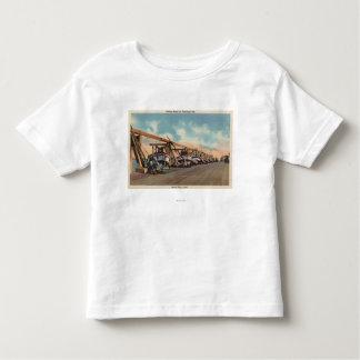 View of Fishing Boats on Municipal Pier Toddler T-shirt
