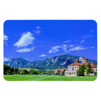 View of Flatirons from CU Campus in Boulder, CO Magnet