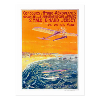 View of Float Planes in Air and Water Poster Postcard