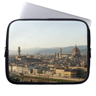 view of florence with Arno River, Duomo, Ponte Laptop Sleeve