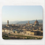 view of florence with Arno River, Duomo, Ponte Mousepad