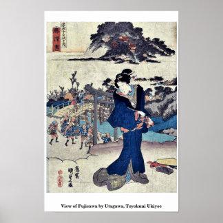 View of Fujisawa by Utagawa, Toyokuni Ukiyoe Poster