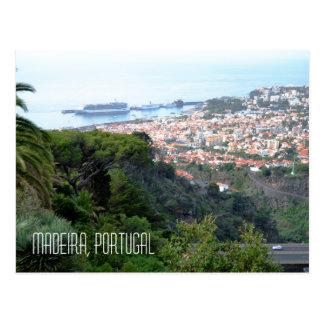 View of Funchal Madeira Island Portugal Postcard