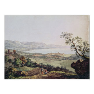 View of Geneva from Saconex in Savoy Poster