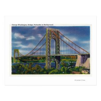 View of George Washington Bridge Postcard