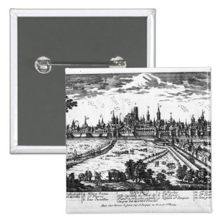 View of Ghent 2 Inch Square Button