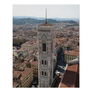 View of Giotto's Bell Tower (Campanile di Poster