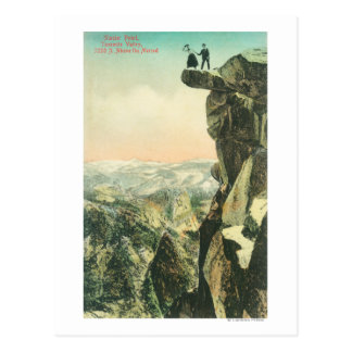 View of Glacier Point Looking Over Yosemite Postcard