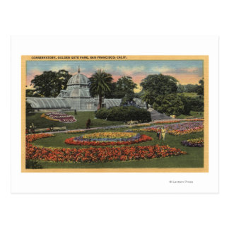View of Golden Gate Park & Conservatory Postcard