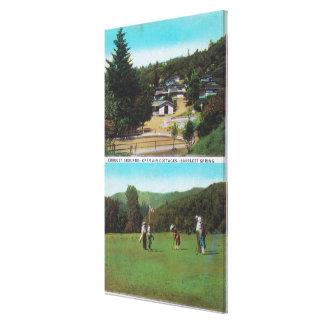 View of Golf Course, Croquet Grounds, Cottages Canvas Prints