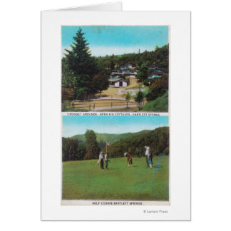 View of Golf Course, Croquet Grounds, Cottages Card