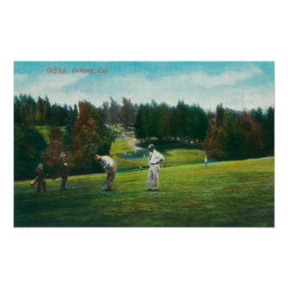 View of Golfer About Ready to SwingOakland, CA Poster