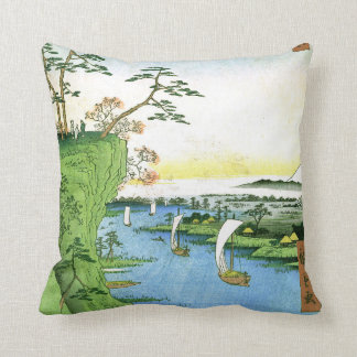 View of Goose Hill and the Tone River Throw Pillow