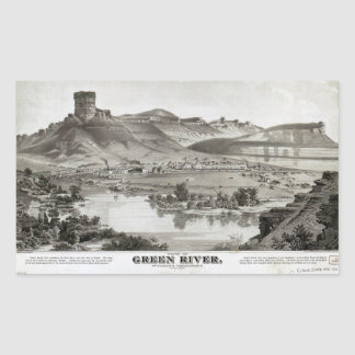 View of Green River, Wyoming Territory (1875) Sticker