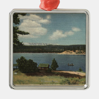 View of Grout Bay from Dana Point Silver-Colored Square Ornament