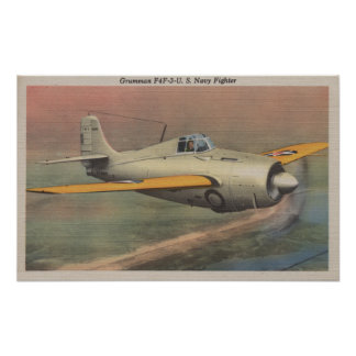 View of Grumman F4F-3-U.S. Navy Fighter Poster