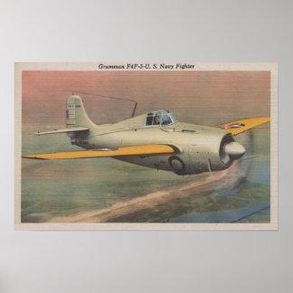 View of Grumman F4F-3-U.S. Navy Fighter Poster