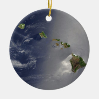 View of Hawaii from Space Ceramic Ornament
