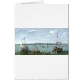 View of Hoorn: Hendrick Cornelisz Vroom Card