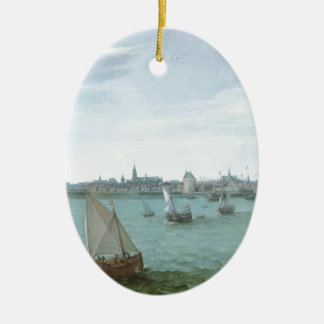 View of Hoorn: Hendrick Cornelisz Vroom Ceramic Ornament