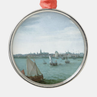 View of Hoorn: Hendrick Cornelisz Vroom Metal Ornament