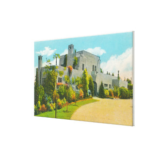 View of Hoover's Home, Stanford U Campus Gallery Wrap Canvas