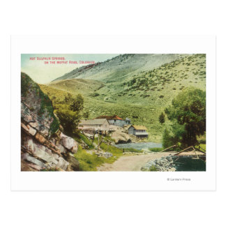 View of Hot Sulphur Springs on the Moffat Road Postcard
