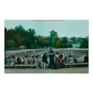 View of Hotel del Monte Tennis Grounds Poster