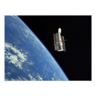 View of Hubble Space Telescope from Discovery Poster