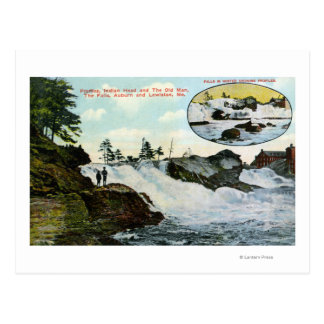 View of Indian Head, the Old Man Postcard