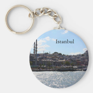 View of Istanbul Harbor Keychain
