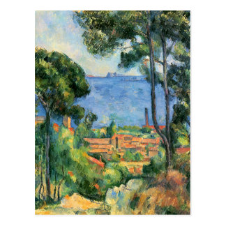 View of L'Estaque and the If Castle by Cezanne Postcard