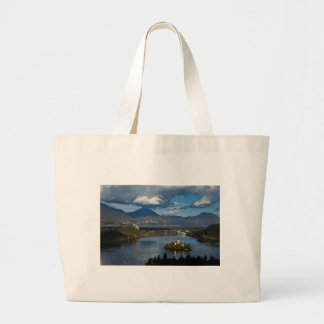 View of Lake Bled from Ojstrica Large Tote Bag