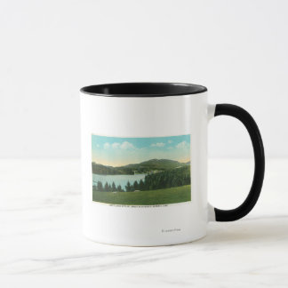 View of Lake Flower with Mt. Baker in Distance Mug