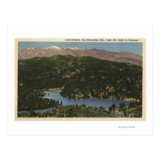 View of Lake Gregory & San Bernardino Postcard