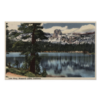 View of Lake Mary & High Sierra Mts. Poster