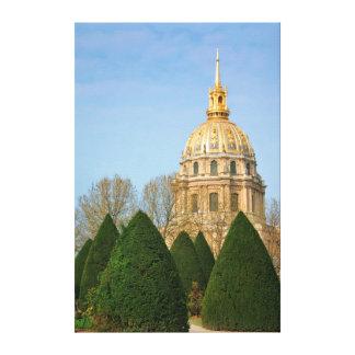 View Of Les Invalides Eglise Du Dome Canvas Print