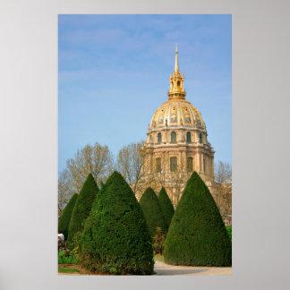 View Of Les Invalides Eglise Du Dome Poster