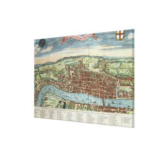 View of London, c.1560 Canvas Print