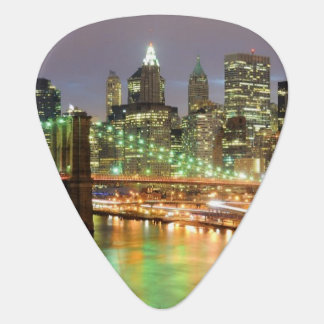View of Lower Manhattan and the Brooklyn Bridge Guitar Pick