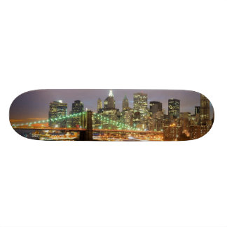 View of Lower Manhattan and the Brooklyn Bridge Skateboards