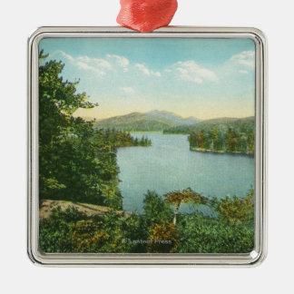 View of Lower Saranac Lake from Bluff Island Metal Ornament